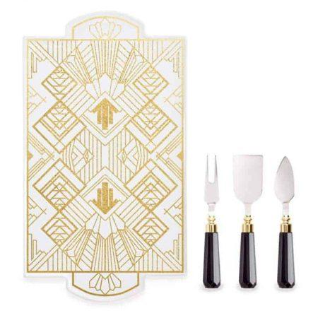Platter Ceramic & Cheese Knives