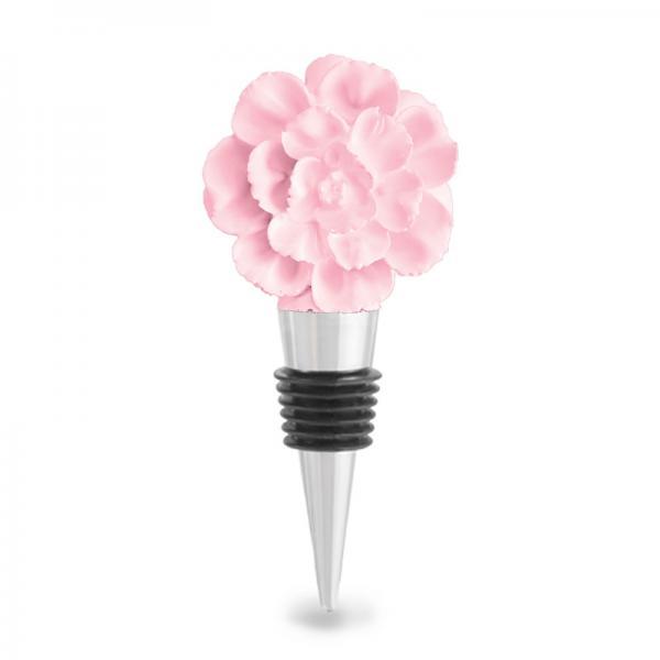Pink Flower Bottle Stopper, Flower, Petal, Pink, Wine Stopper, Mothers Day, Gift Mom