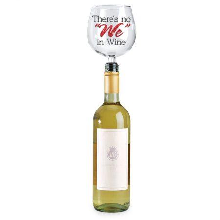 Wine Glass Bottle Topper