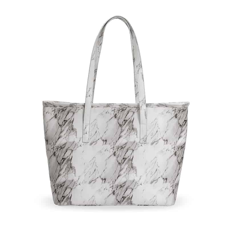 c7c455300a59 Insulated Tote Bag. White Marble. IBT413A2