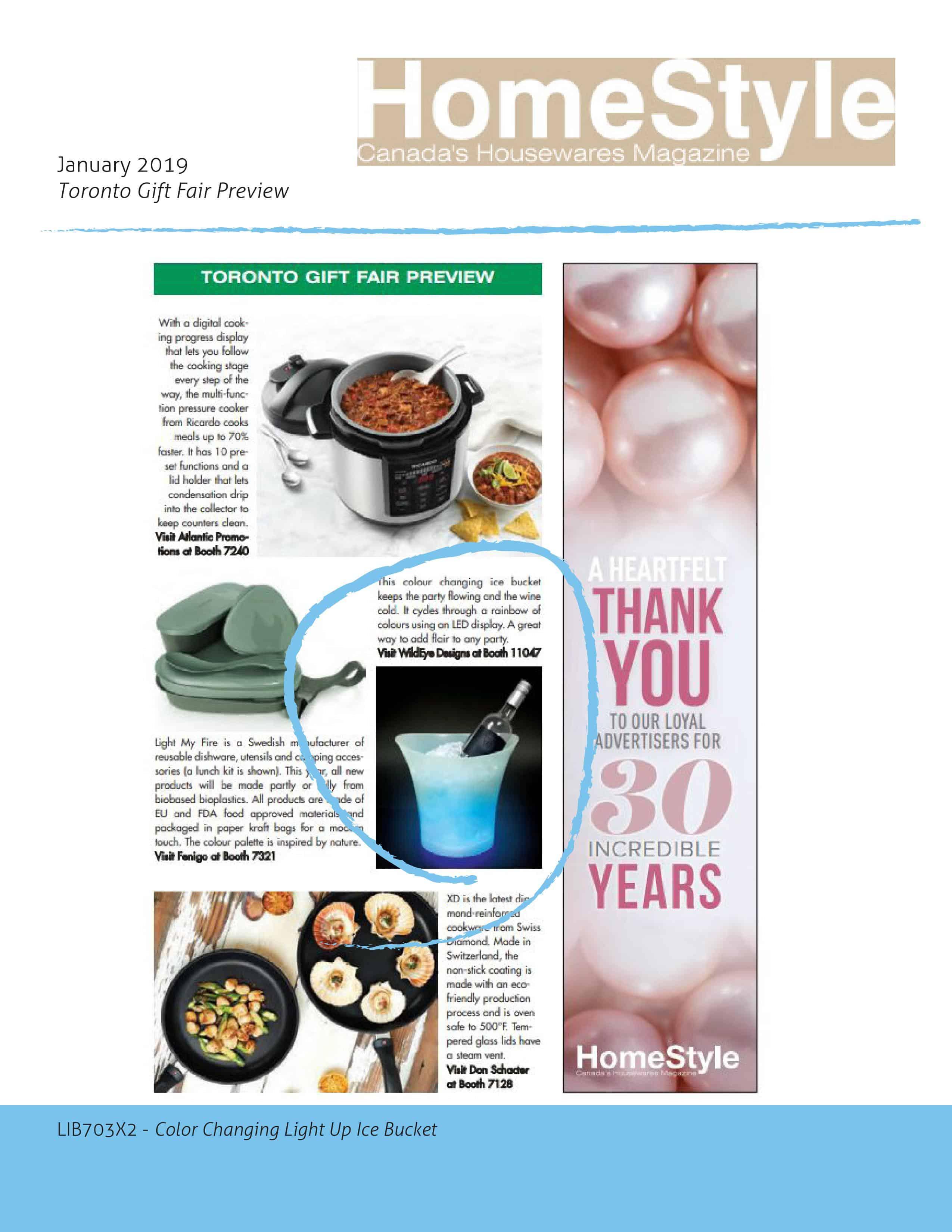 HomeStyle Canada's Housewares Magazine January 2019 Issue