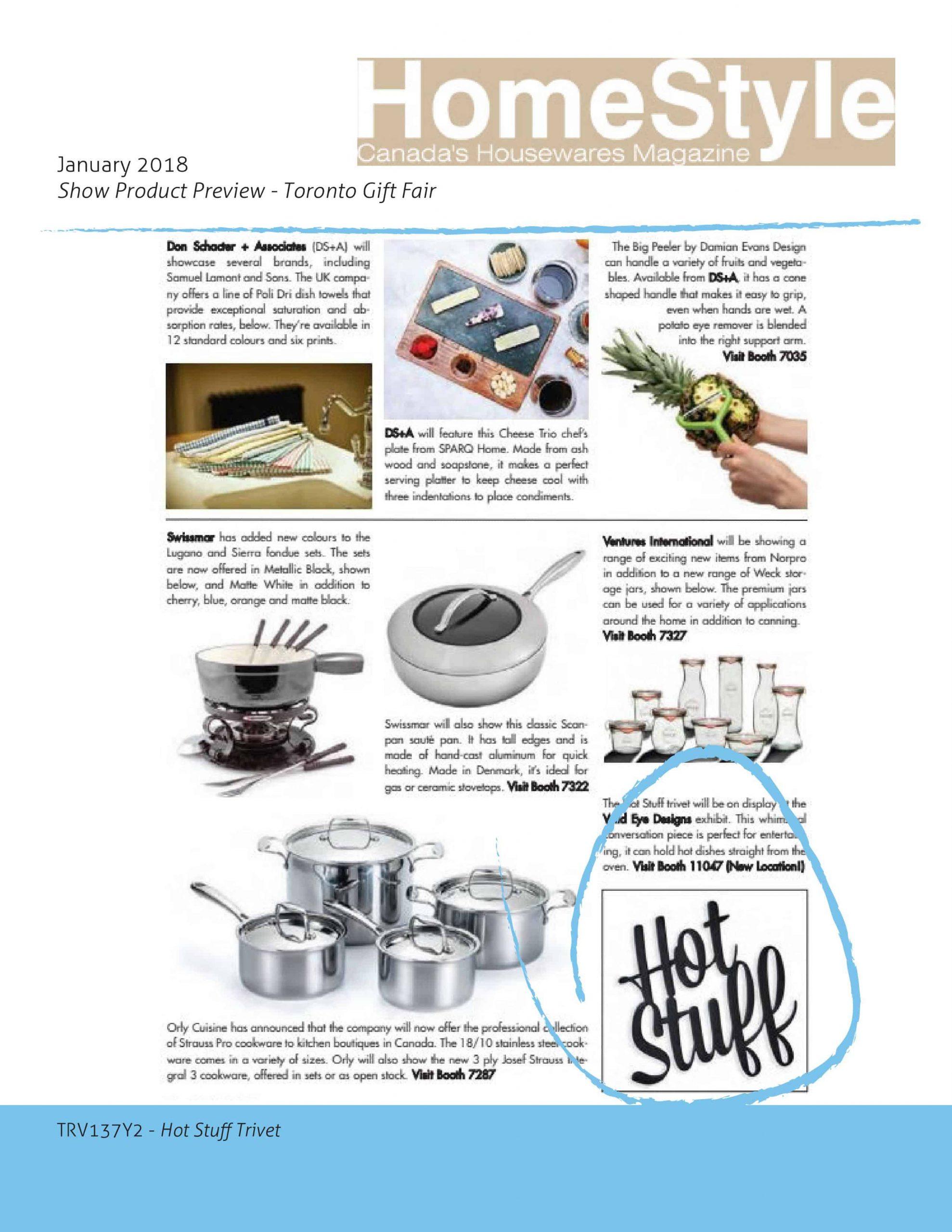 HomeStyle Canada's Housewares Magazine January 2018 Issue